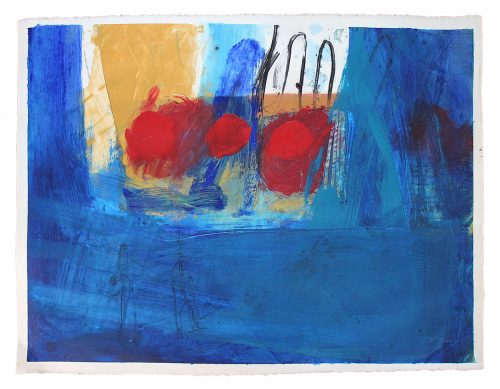 phil stallard art blue abstract on paper